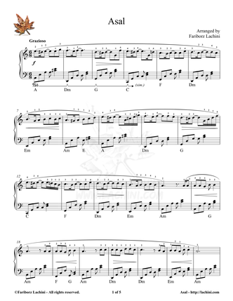 Asal 3 Sheet Music