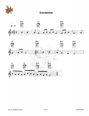 Asemoon Sheet Music