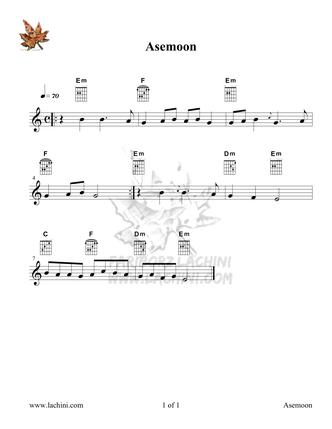 Asemoon Sheet Music