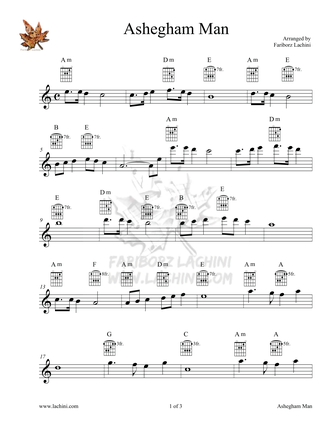 Ashegham Man 2 Sheet Music
