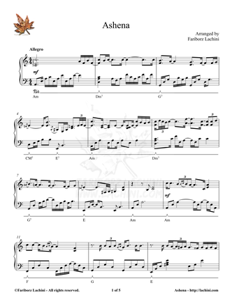 Ashena Sheet Music