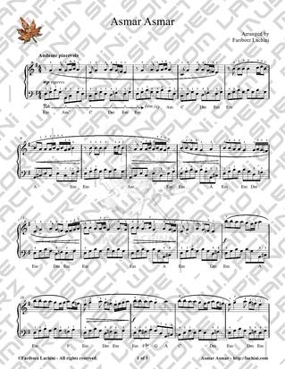 Asmar Asmar Sheet Music