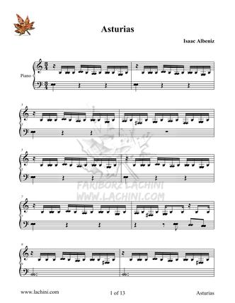 Asturias Sheet Music