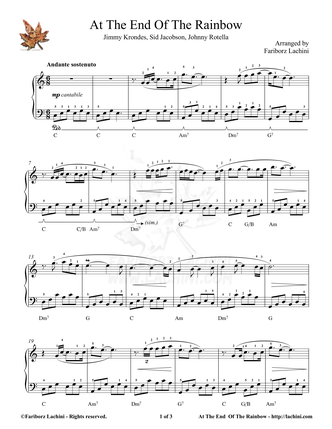 At the End of the Rainbow Sheet Music