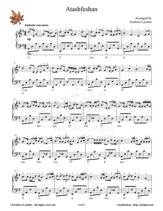 Atashfeshan Sheet Music
