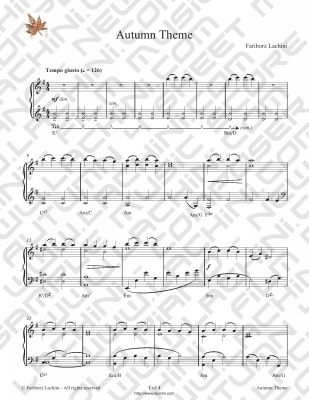 Autumn Theme Sheet Music