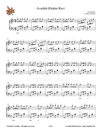 Ravi Sheet Music