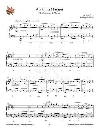 Away In Manger Sheet Music