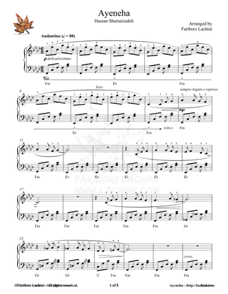 Ayeneha Sheet Music