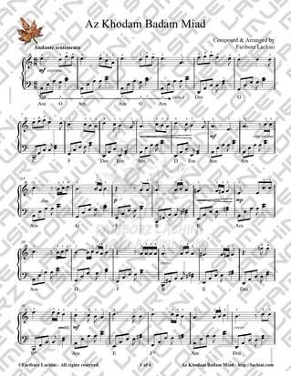 Az Khodam Badam Miad 2 Sheet Music
