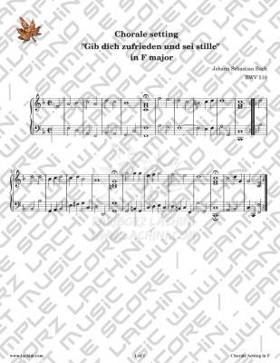 Gib Dich Zufrieden und Sei Stille - F major Sheet Music