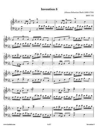 Invention 5 Sheet Music