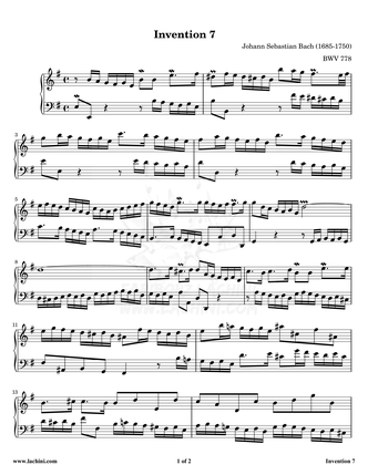 Invention 7 Sheet Music