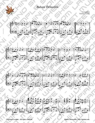 Bahare Delneshin 2 Sheet Music