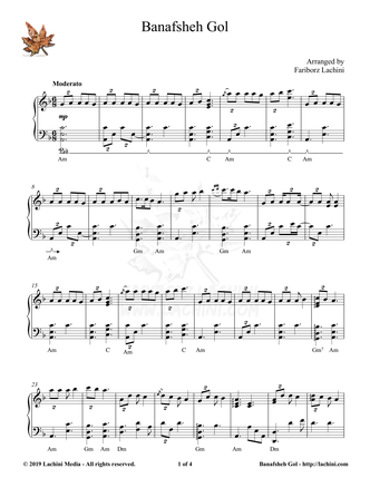 Banafsheh Gol Sheet Music