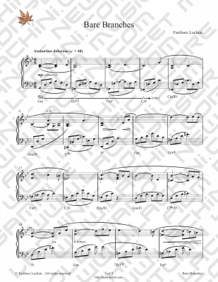 Bare Branches Sheet Music