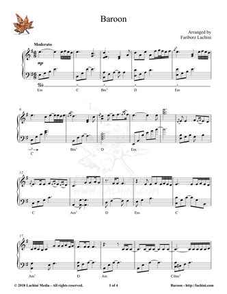 Baroon Sheet Music
