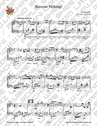 Baroone Deltangi Sheet Music