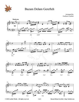 Bazam Delam Gerefteh Sheet Music