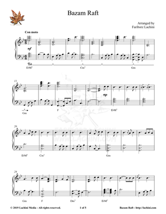 Bazam Raft Sheet Music