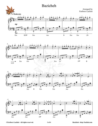 Bazicheh Sheet Music