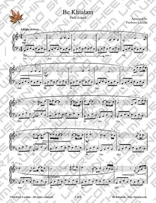 Be Khialam Sheet Music