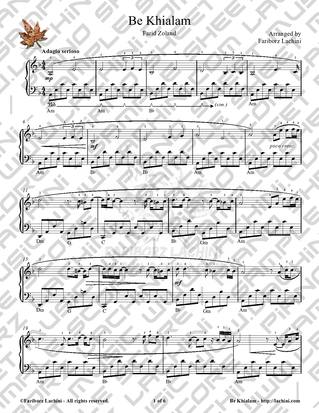 Be Khialam 2 Sheet Music