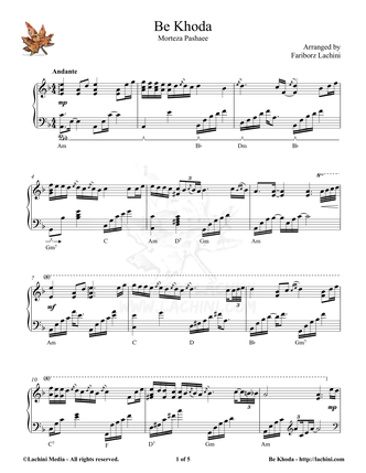 Be Khoda Sheet Music