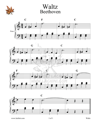 Beethoven Waltz Sheet Music