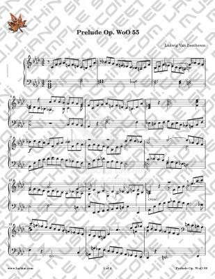 Prelude Wo O55 音乐页