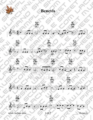 Benevis Sheet Music