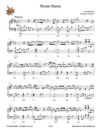Bezan Baran Sheet Music