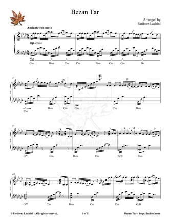 Bezan Tar Sheet Music