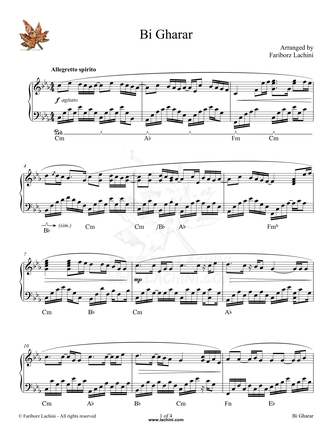 BiGharar Sheet Music