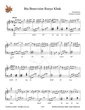 Bia Benevisim Sheet Music