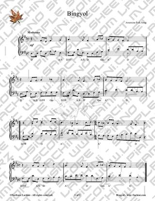 Bingyol Sheet Music