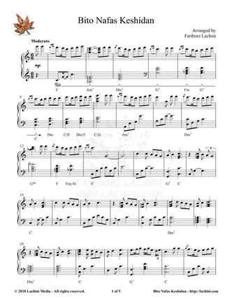 Bito Nafas Keshidan Sheet Music