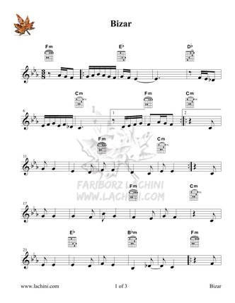 Bizar Sheet Music