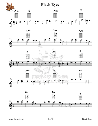 Dark Eyes Sheet Music