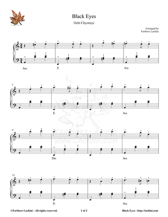 Black Eyes Sheet Music