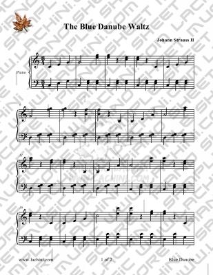 Blue Danube Sheet Music