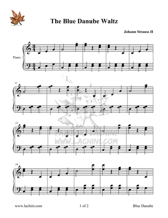 Blue Danube Sheet Music