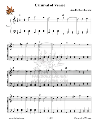 Carnival of Venice Sheet Music