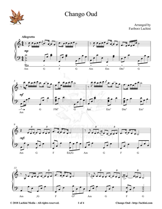 Chango Oud Sheet Music