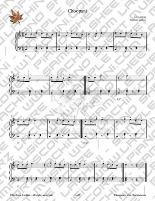 Choopani Sheet Music