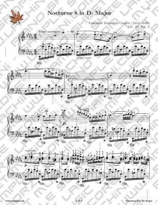 Nocturne 8 音乐页