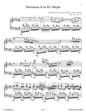 Nocturne 8 Sheet Music