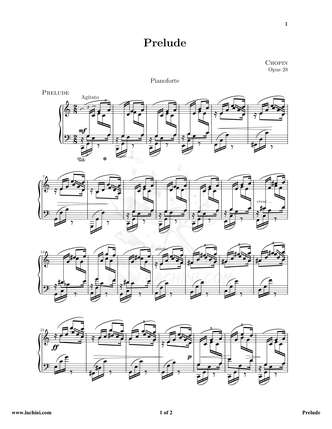 Chopin Prelude Sheet Music