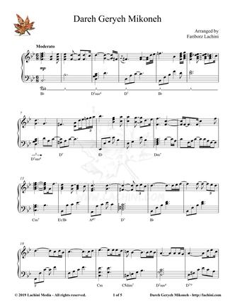 Dareh Geryeh Mikoneh Sheet Music