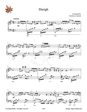 Darigh Sheet Music